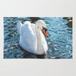 The white swan Rug