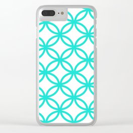 Interlocking Teal Clear iPhone Case