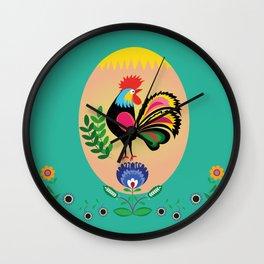 Polish Folk - Decorative Easter Egg Wall Clock