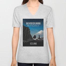 Iceland: Reynisfjara Unisex V-Neck
