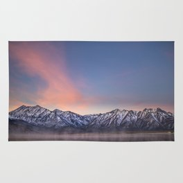 """Pretty in Pink"" -- an Eastern Sierra sunrise Rug"