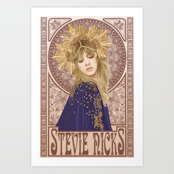 Stevie Nicks Mucha Kunstdrucke
