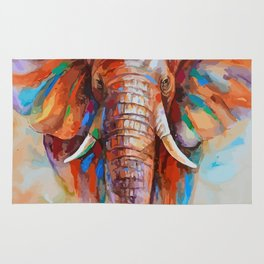 A COLORFUL ELEPHANT Rug