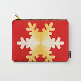Gold Snowflake Carry-All Pouch