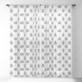 Doodle Beetle Sheer Curtain
