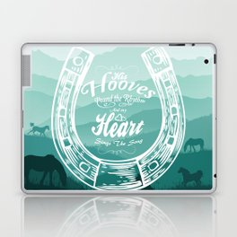 Horse Quote Typography - Horse Hoove Shoe quote - Horse lover Laptop & iPad Skin