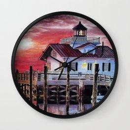 Roanoke Marsh Lighthouse Wall Clock