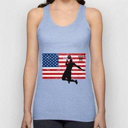 USA American Flag Basketball Basketball Player Gift Unisex Tank Top