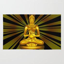 Buddha Siddhartha Gautama Golden Statue Rug