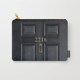Haunted black door with 221b number Carry-All Pouch