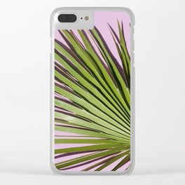 Palm on Lavender Clear iPhone Case