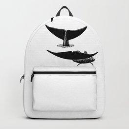 Whale flukes Backpack