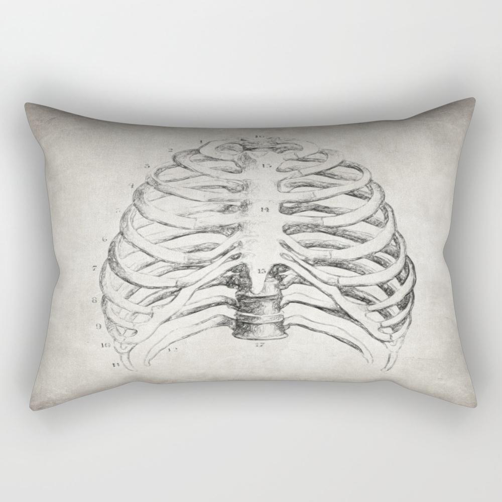 Rib Cage Rectangular Pillow RPW8767819