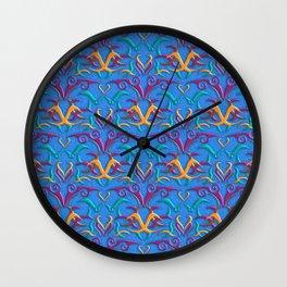 Tribal Pattern 3 Wall Clock