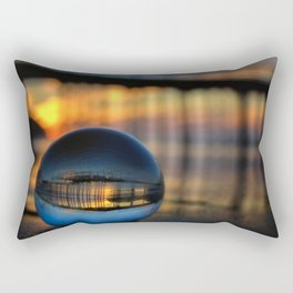 Avila Pier Captured in a crystal ball at sunrise Rectangular Pillow