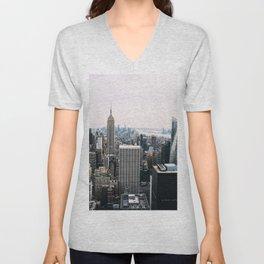 New York skyline from Top of the Rock Unisex V-Neck