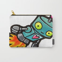 Robot - Love Rocket Carry-All Pouch