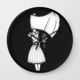 Nancy Can't Even (Black Background) Wall Clock
