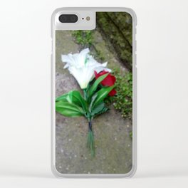 Paper Flower Clear iPhone Case