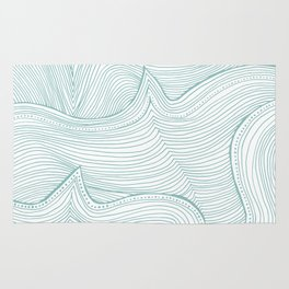 seafoam wave pattern Rug