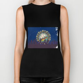 New Hampshire State Flag with Audience Biker Tank
