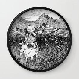 Sami fox Wall Clock