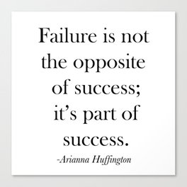 Success Quote Canvas Print