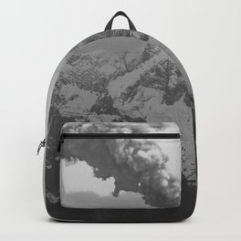 Volcano black and white Backpack