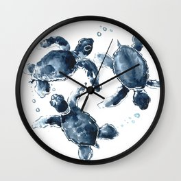 Swimming Sea Turtles Wall Clock