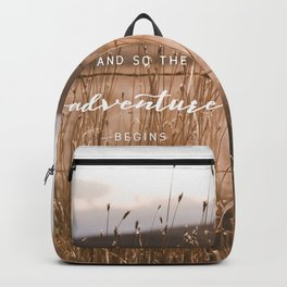 And So The Adventure Begins - Rustic Western Backpack