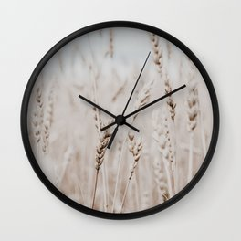 wheat. Wall Clock