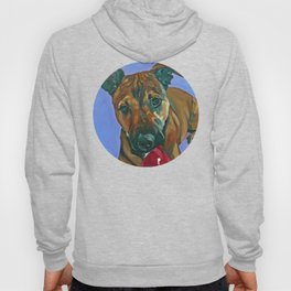 Chance the Terrier Mix Dog Portrait Hoody