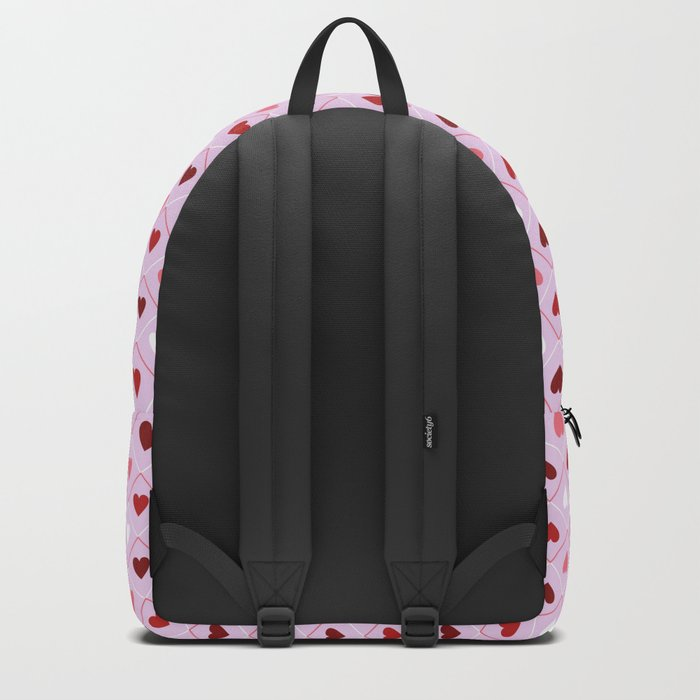 Valentines - Pink Heart Pattern Backpack