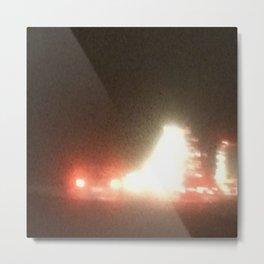 Abstracte Light Art in the Dark 13 Metal Print