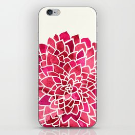 Beauty In Cream, Pink & Red iPhone Skin