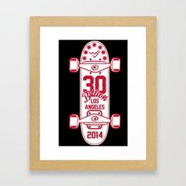 30Billion - Skateboard 06 Framed Art Print