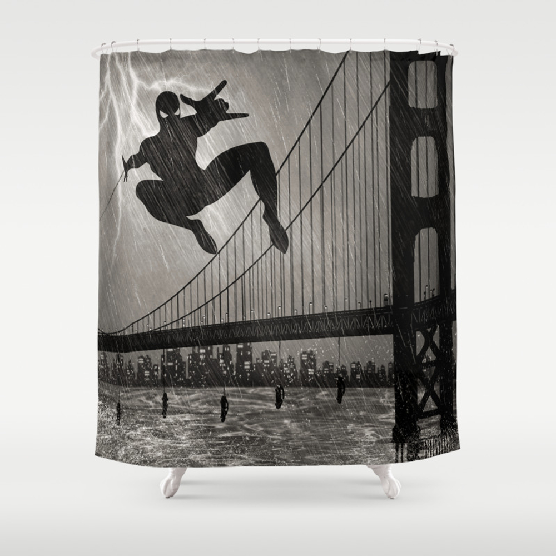 Spider-man Walk Shower Curtain by Belle13 CTN1308970