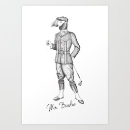 Mr. Birdie Art Print