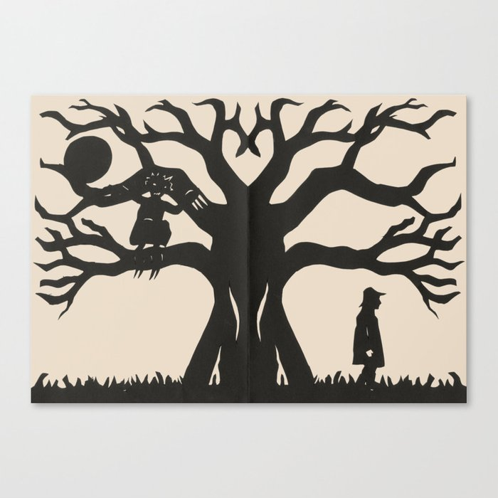 Hiding In The Branches Canvas Print