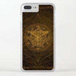 Dark Matter - Gold - By Aeonic Art Clear iPhone Case
