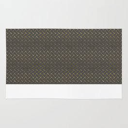 Metal - Checker plate gold reflections Rug