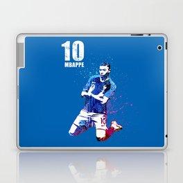 Mbappe art on blue #france Laptop & iPad Skin