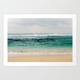 Gloomy Beach Art Print