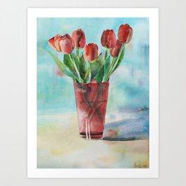 Early tulips Art Print