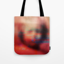 Ghost Glitch Tote Bag