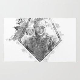 Ragnar Lodbrok   Viking legend Rug