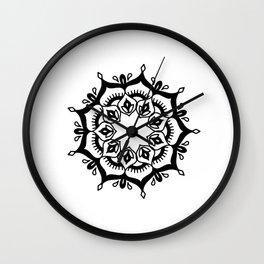 Mandala: hand-drawn Wall Clock