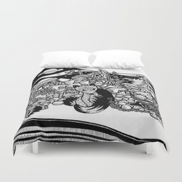 Space foxes Duvet Cover