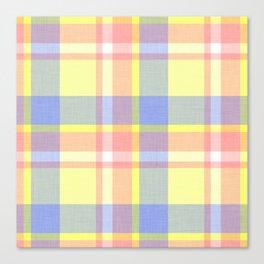 Yellow Plaid Canvas Print