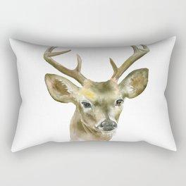 Buck Watercolor Painting Deer Fine Art Rectangular Pillow